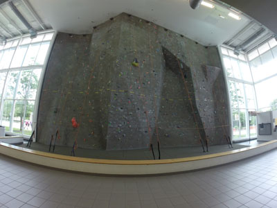 Climbing wall at the RFC Wayne State
